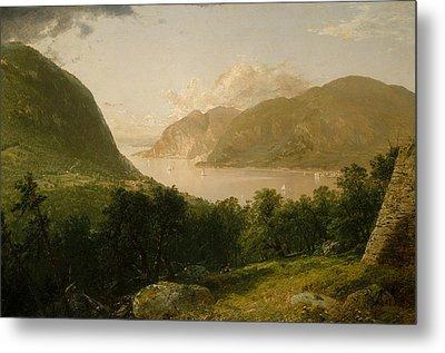 Hudson River Scene Metal Print by John Frederick Kensett