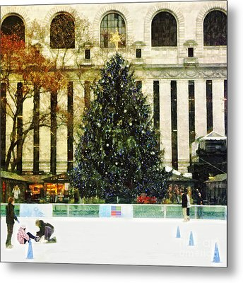 Ice Skating During The Holiday Season Metal Print by Nishanth Gopinathan