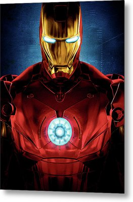 Iron Man Metal Print by Caio Caldas