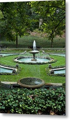 Italian Water Garden Metal Print by John Greim