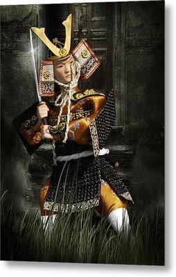 Japanese Samurai Doll Metal Print by Christine Till