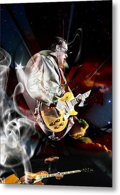 Joe Bonamassa Blue Guitarist Art Metal Print by Marvin Blaine