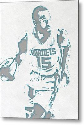 Kemba Walker Charlotte Hornets Pixel Art 3 Metal Print