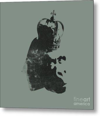 King Ape Metal Print by Pixel Chimp