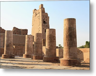 Metal Print featuring the photograph Kom Ombo by Silvia Bruno