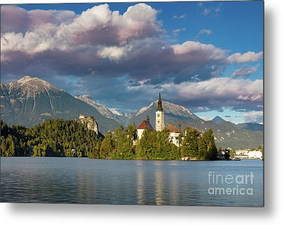 Metal Print featuring the photograph Lake Bled Evening by Brian Jannsen