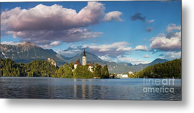 Metal Print featuring the photograph Lake Bled Panoramic by Brian Jannsen
