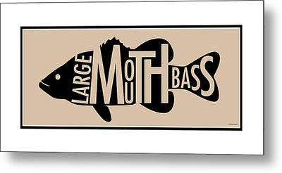 Largemouth Bass  Metal Print by Geoff Strehlow