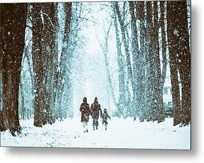 Let It Snow Metal Print by Marji Lang