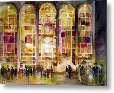 Lincoln Center Metal Print by Dorrie Rifkin