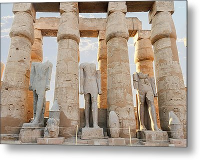 Metal Print featuring the photograph Luxor by Silvia Bruno