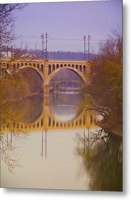 Manayunk Bridge Metal Print by Bill Cannon