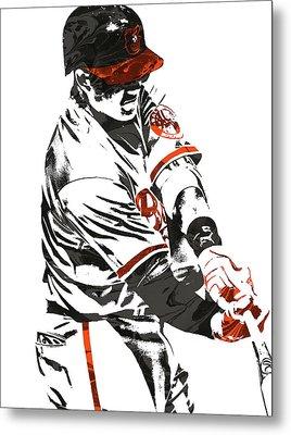Manny Machado Baltimore Orioles Pixel Art Metal Print
