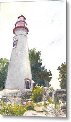 Marblehead Lighthouse Metal Print by Terri  Meyer