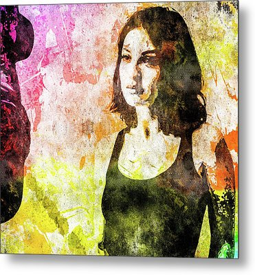 Metal Print featuring the mixed media Maria Valverde by Svelby Art