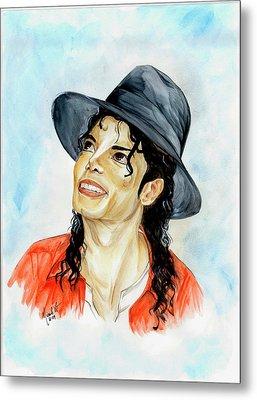 Michael Jackson - Keep The Faith Metal Print by Nicole Wang