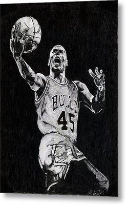 Michael Jordan Metal Print by Hari Mohan