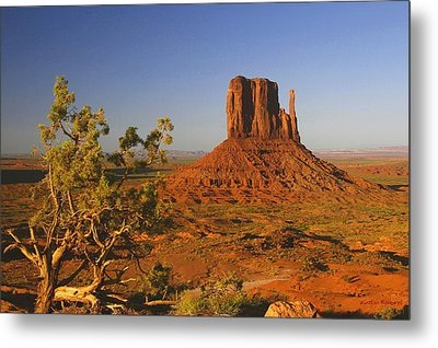 Mitten And Juniper Metal Print by Winston Rockwell