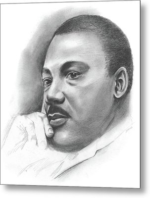 MLK Metal Print by Greg Joens