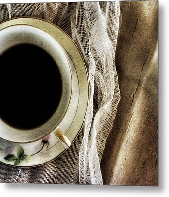 Metal Print featuring the photograph Morning Coffee by Bonnie Bruno