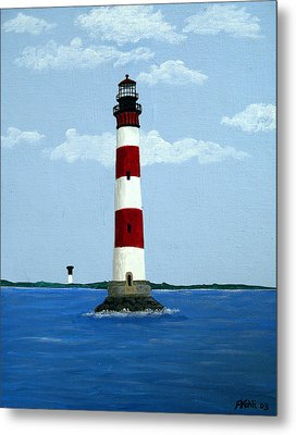 Morris Island Light Metal Print by Frederic Kohli