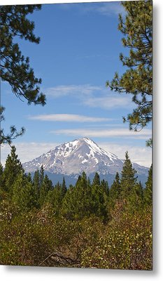 Metal Print featuring the photograph Mount Shasta by Daniel Hebard