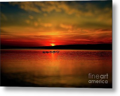 Munising Sunrise  Metal Print by Matthew Winn