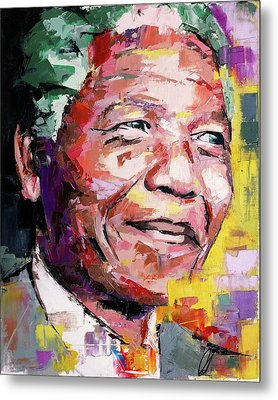 Nelson Mandela Metal Print by Richard Day