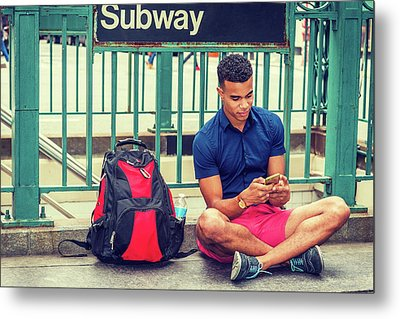 New York Subway Station Metal Print