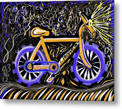 Night Ride II Metal Print by Colleen Proppe