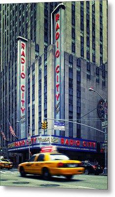 Nyc Radio City Music Hall Metal Print by Nina Papiorek