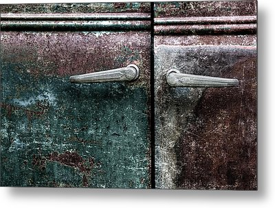 Old Car Weathered Paint Metal Print by Carol Leigh