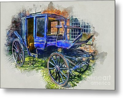 Old Stagecoach Metal Print