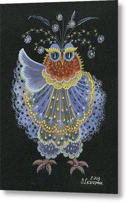 Owl Metal Print by Olena Skytsiuk