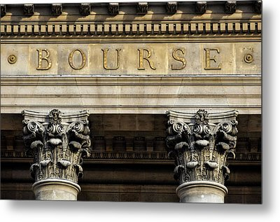 Paris Stock Exchange Metal Print by Dutourdumonde Photography