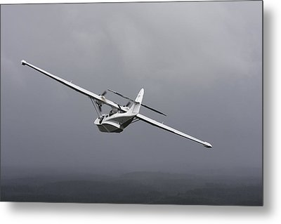 Pby Catalina Vintage Flying Boat Metal Print by Daniel Karlsson