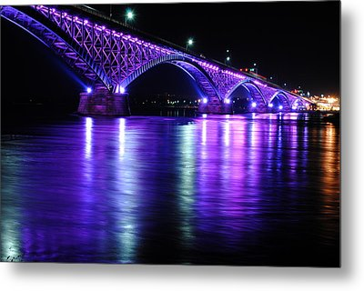 Peace Bridge Supporting Breast Cancer Awareness Metal Print