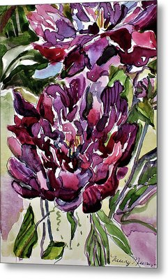 Metal Print featuring the painting Peonies by Mindy Newman