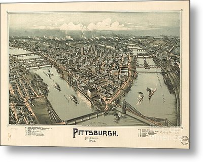 Philadelphia 1868 Metal Print by Baltzgar