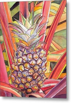 Pineapple Metal Print by Marionette Taboniar