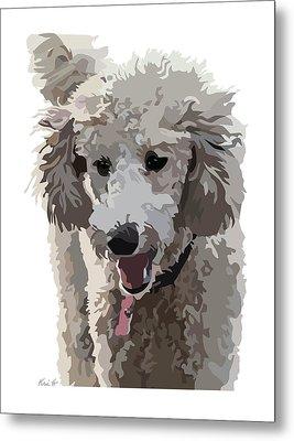 Poodle Portrait II Metal Print by Kris Hackleman