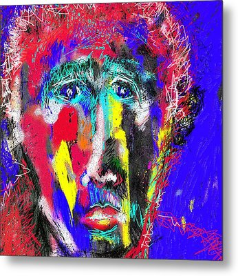 Portrait Of A Homeless Man Metal Print
