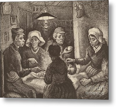 Potato Eaters, 1885 Metal Print by Vincent Van Gogh