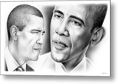 President Barack Obama Metal Print by Greg Joens