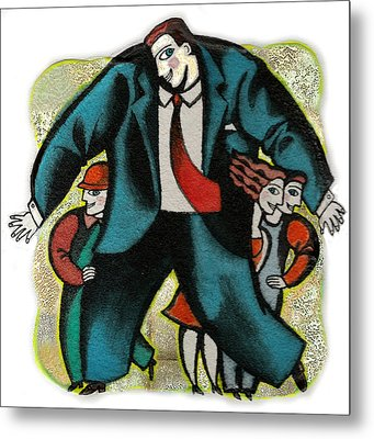 Lawyer And Protection Metal Print by Leon Zernitsky