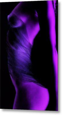 Purple Love Metal Print by Naman Imagery