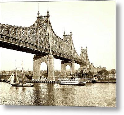 Queensboro Bridge - 1910 Metal Print by L O C