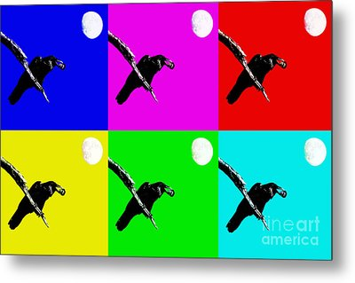 Quoth The Raven Nevermore Six Metal Print by Wingsdomain Art and Photography