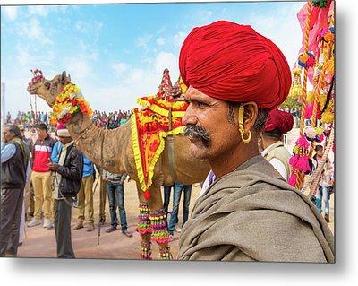 Rajasthani Man Metal Print