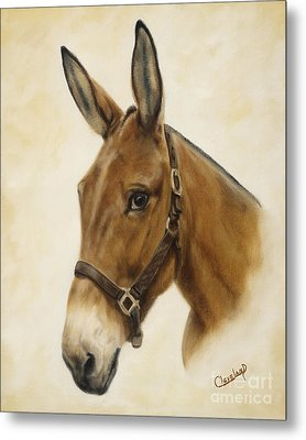 Metal Print featuring the painting Ready Mule by Cathy Cleveland